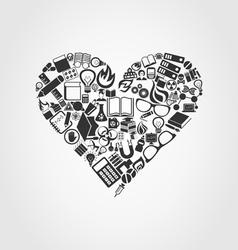 Heart a science2 vector