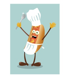 Mister hot dog vector