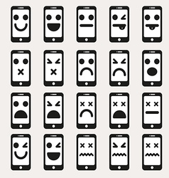 Set smileys emoticons vector