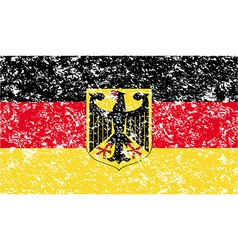 Flag arms of germany with old texture vector