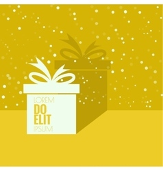 Gift box with a flat shadow vector
