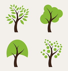 Set of tree icons vector