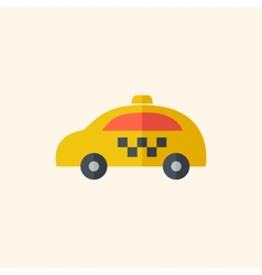 Taxi travel flat icon vector