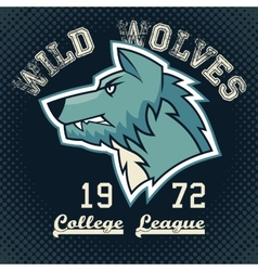 Wild wolves sports mascot vector