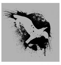 Grunge bird vector