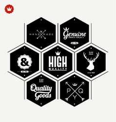 Collection of premium quality label vector