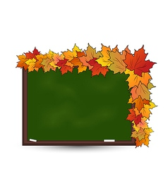 School board with maple leaves vector