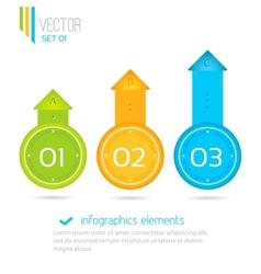 Infographics elements progress icons for three vector