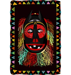 African fringed mask vector