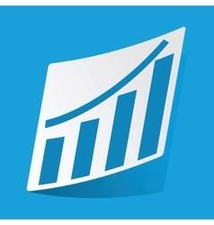 Bar graphic sticker vector