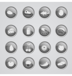 Set of foods indredients icons vector