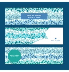Abstract ice chrystals texture horizontal banners vector