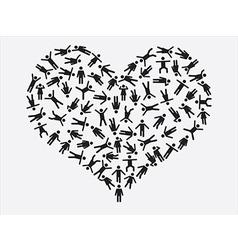 People pictogram heart vector