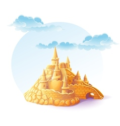 Sand castle on the background of sky vector