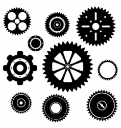 Industrial gear wheel set vector