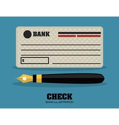 Check bank design vector