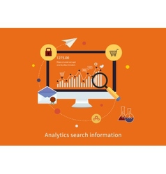 Search information and website seo vector