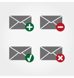 Envelopes web icons vector