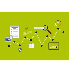 Icons set of analytics search information vector