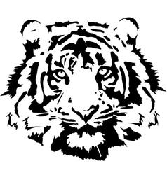 Tiger head in black interpretation 1 vector