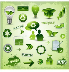 Environment icons concept vector