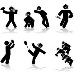 Football action vector