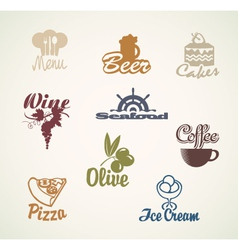 Food and drinks signs vector