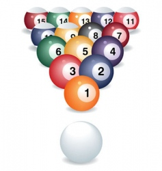 Pool game balls vector