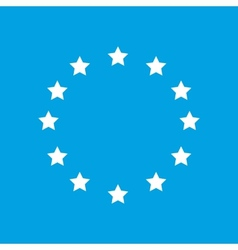 European union white icon vector