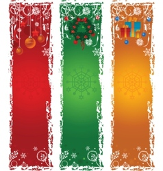 Three vertical christmas banners vector