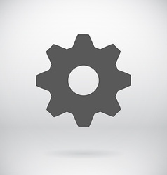 Flat settings cog sign repair key symbol vector