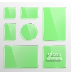 Glass plates set vector