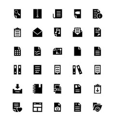 Documents icons 4 vector