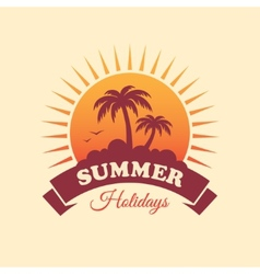 Summer holidays label vector