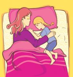 Girl sleeping vector