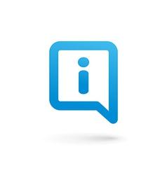 Letter i speech bubble info logo icon design vector