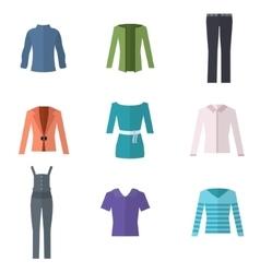 Woman clothing set vector