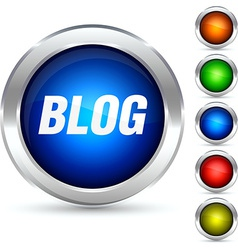 Blog button vector