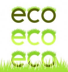 Grassy ecological emblem vector
