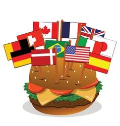 Multi-ethnic sandwich vector