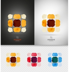 Geometric abstract shape - business symbol vector