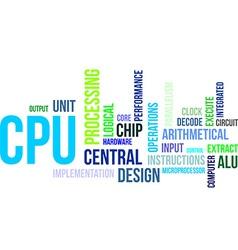 Word cloud cpu vector