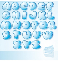 Ice font vector