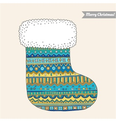 Christmas stocking for gifts vector