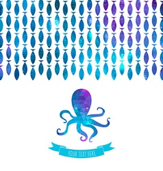 Card with octopus vector