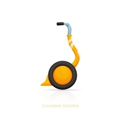 Childrens scooter one vector
