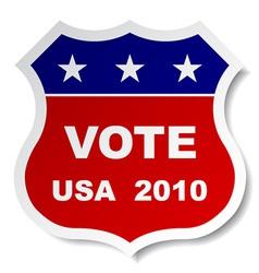 Patriotic vote sticker vector