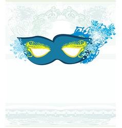 Blue venetian carnival mask vector