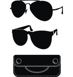 Classical sunglasses vector
