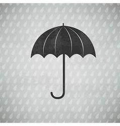 Vintage black umbrella vector